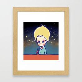 let your heart talk Framed Art Print