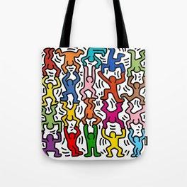 Homage to Keith Haring Acrobats II Tote Bag