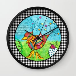 Momma Bird Wall Clock