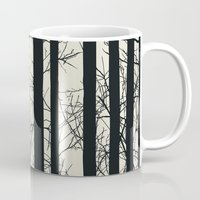 naked Mugs featuring Naked forest by Rceeh