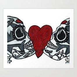 Amo y Besos<3 Art Print
