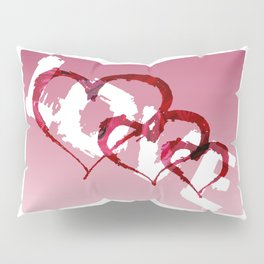 Triple Heart Love Pillow Sham