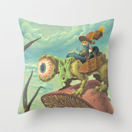 "The Search, 13""x24"" Throw Pillow"