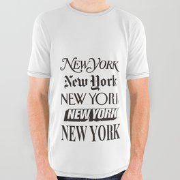 I Heart New York City Black and White New York Poster I Love NYC Design black-white home wall decor All Over Graphic Tee