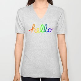 Oh Hello! Coloful Version Unisex V-Neck