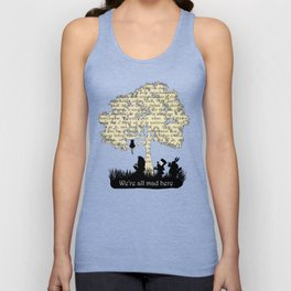 We're All Mad Here II - Alice In Wonderland Silhouette Art Unisex Tank Top