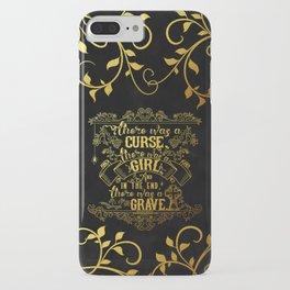 Beautiful Creatures - Grave - Gold Foil iPhone Case