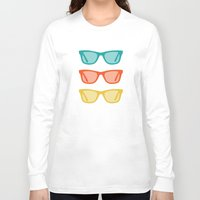 frames Long Sleeve T-shirts featuring Ray Ban Frames Sunglasses by AleDan