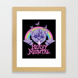 Heavy Meowtal Framed Art Print