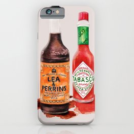 Saucy! Watercolour Food illustration iPhone Case
