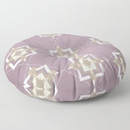 Musk Mauve and Taupe Mosaic Pattern Floor Pillow