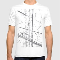 6a MEDIUM Mens Fitted Tee White