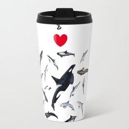 I love dolphins Travel Mug