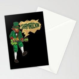 E-Guitar Playing Leprechaun - Shamrockin Stationery Cards