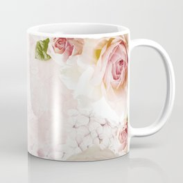Vintage Flower Pink English Roses Collage Coffee Mug