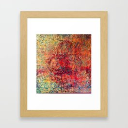 Bumps & Color Framed Art Print
