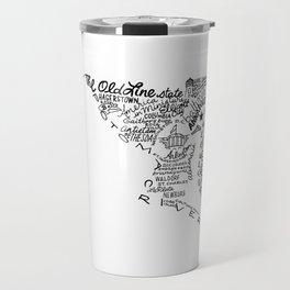 Maryland - Hand Lettered Map Travel Mug