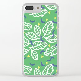 fresh leaves Clear iPhone Case