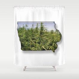 Green Iowa Shower Curtain
