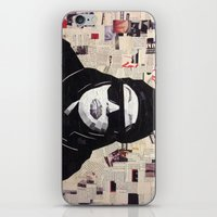 aaliyah iPhone & iPod Skins featuring Chopped and Glued - Aaliyah by ByReenaRae