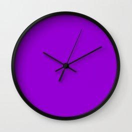 Dark Violet -solid color Wall Clock