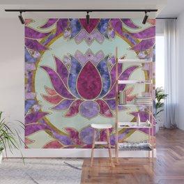 Pastel Watercolor Lotus Symbol Wall Mural