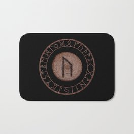 Uruz Elder Futhark Rune determination, persistence, freedom, courage, will, territoriality Bath Mat