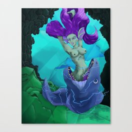 Deceitful Beauty Canvas Print