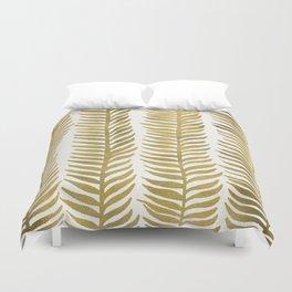 Golden Seaweed Duvet Cover