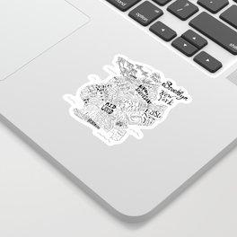 Brooklyn Map Sticker