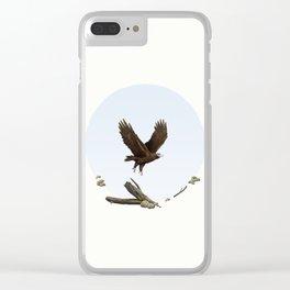 Wedge-Tailed Eagle (Aquila audax fleayi) Clear iPhone Case