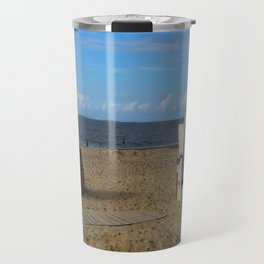 Beach Life in Autumn Travel Mug