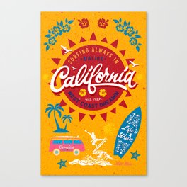 California West Coast Dreamin Canvas Print