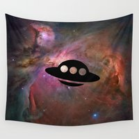 ufo Wall Tapestries featuring UFO by Ace of Spades