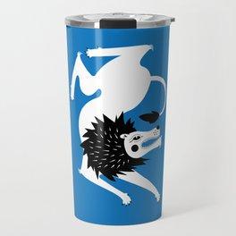Dancing Beasts: Lion Travel Mug