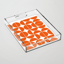 Mid Century Modern Geometric 04 Orange Acrylic Tray