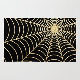 Spiderweb   Gold Glitter Rug