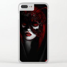 Masked Red Clear iPhone Case