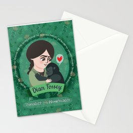 Women in science | Dian Fossey Stationery Cards