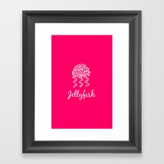 Jellyfish Pink Framed Art Print