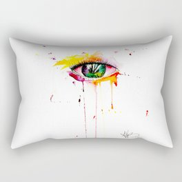 watercolor eye Rectangular Pillow