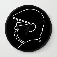notorious big Wall Clocks featuring Notorious by Ant Errickson