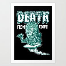 Death From Above (Black) Art Print