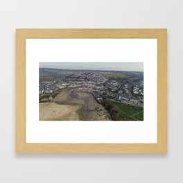 Perranporth Beach Framed Art Print