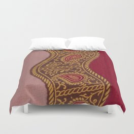 Arabian Nights in Red and Gold Duvet Cover