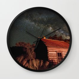 Cabin under the Stars Wall Clock
