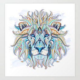 Lion Artwork Art Print