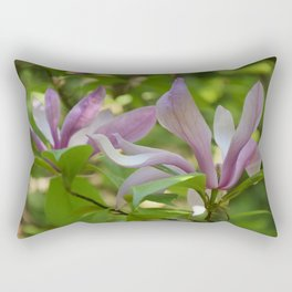 Floral Seasonal Magnolia Rectangular Pillow