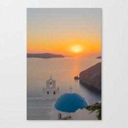Three Bells Santorini Canvas Print