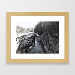 North Conway Rocks Framed Art Print